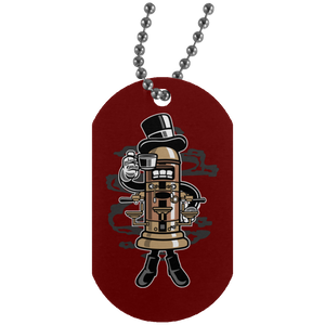 Coffeemaker Silver Dog Tag