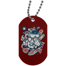 Load image into Gallery viewer, Coffee Bastard Silver Dog Tag