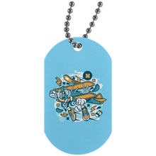 Load image into Gallery viewer, Aeroplane Silver Dog Tag