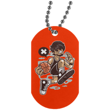 Load image into Gallery viewer, Basketball Player Silver Dog Tag