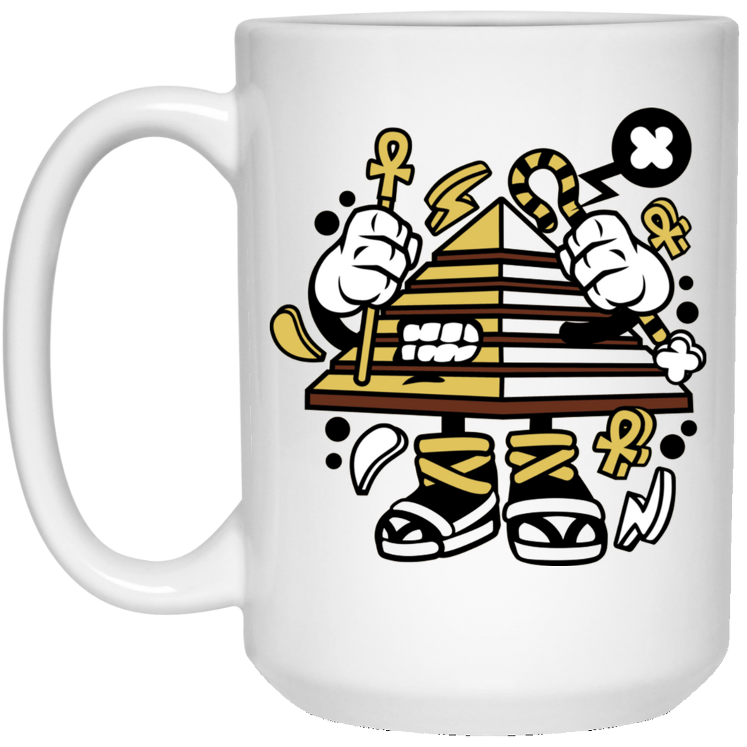 Pyramid 15 oz. White Mug