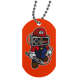 Player Head 1 Silver Dog Tag