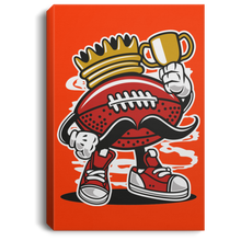 Load image into Gallery viewer, Football King Portrait Canvas .75in Frame