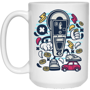 Parking Meter 15 oz. White Mug