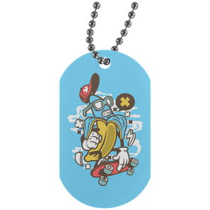 Banana Silver Dog Tag