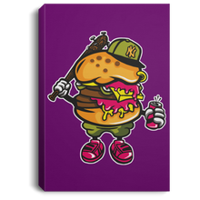 Load image into Gallery viewer, Burger Bastard Portrait Canvas .75in Frame