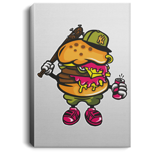 Burger Bastard Portrait Canvas .75in Frame