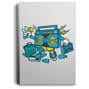 Boombox Portrait Canvas .75in Frame