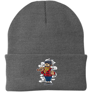 Pizza Beard Knit Cap