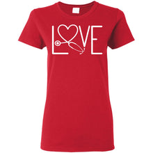 "Load image into Gallery viewer, ""Nurse Love 1"" Ladies' T-Shirt"
