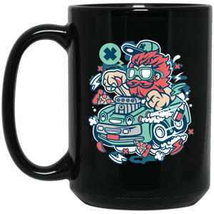 Smoking Hotrod 15 oz. Black Mug
