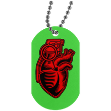 Load image into Gallery viewer, Grenade Heart Silver Dog Tag
