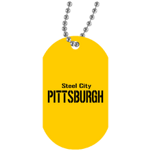 Load image into Gallery viewer, Steel City White Dog Tag