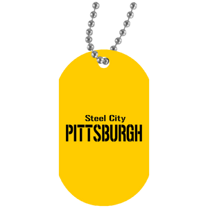 Steel City White Dog Tag