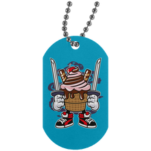 Load image into Gallery viewer, Ice Cream Ninja Silver Dog Tag