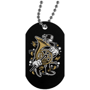 Brittish Horn Silver Dog Tag