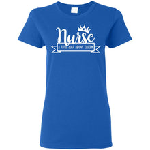 "Load image into Gallery viewer, ""Nurse Queen 1"" Ladies' T-Shirt"