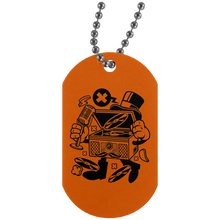 Load image into Gallery viewer, Classic Turntable Silver Dog Tag