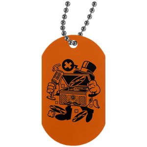 Classic Turntable Silver Dog Tag