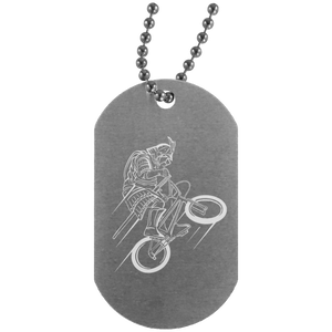 Samurai Silver Dog Tag