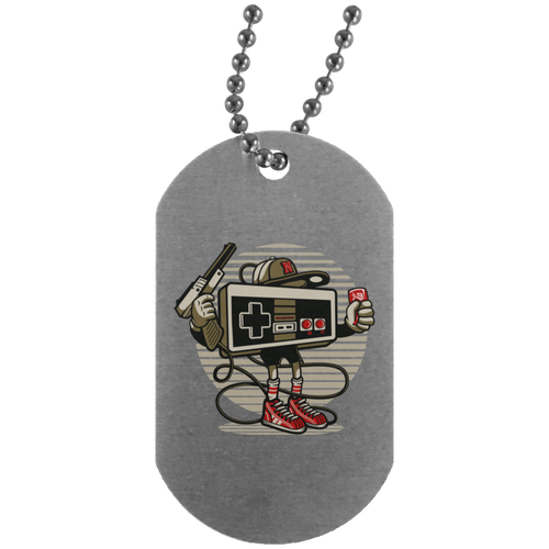 Let's Play Silver Dog Tag