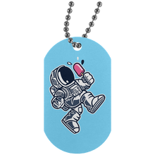 Load image into Gallery viewer, Astronaut Ice Cream Silver Dog Tag