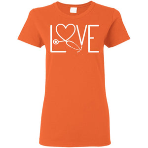 """Nurse Love 1"" Ladies' T-Shirt"