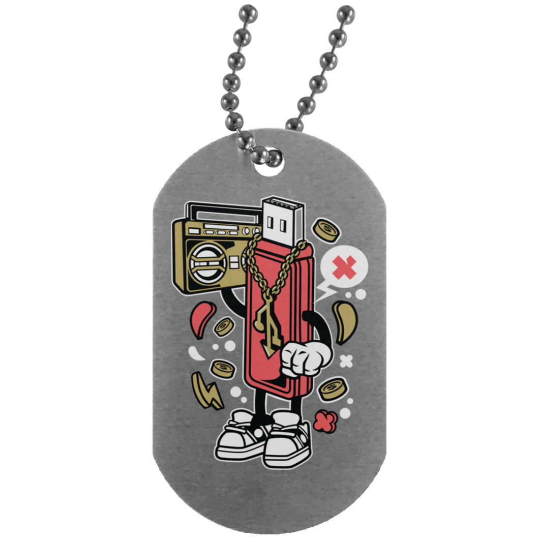 Flash Disk Silver Dog Tag