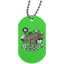Load image into Gallery viewer, Football Table Silver Dog Tag