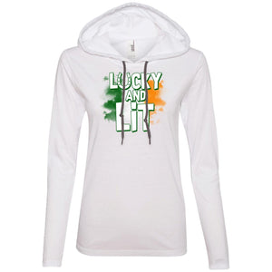 Lucky And Lit Ladies' LS T-Shirt Hoodie
