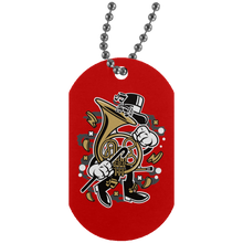 Load image into Gallery viewer, Brittish Horn Silver Dog Tag