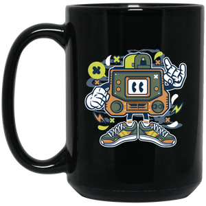 Retro Gamer 15 oz. Black Mug