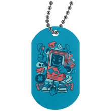 Load image into Gallery viewer, Bad Gamer Silver Dog Tag