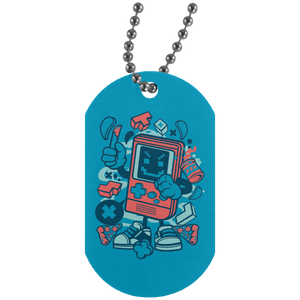 Bad Gamer Silver Dog Tag
