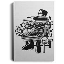 Load image into Gallery viewer, Typewriter Classic Gentleman Portrait Canvas .75in Frame