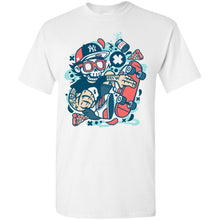 Load image into Gallery viewer, Skateboard Skull T-Shirt