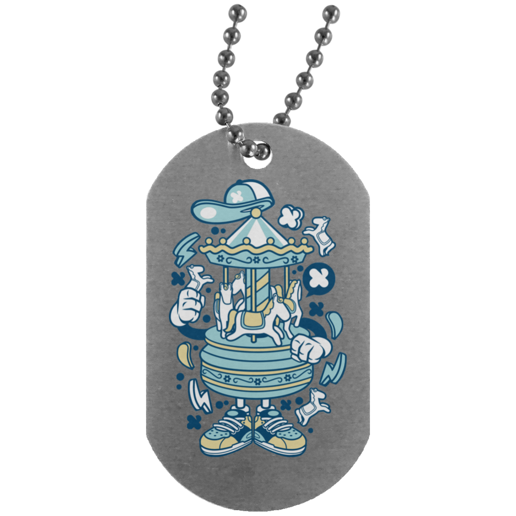 Carousel Silver Dog Tag