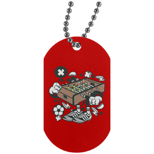 Football Table Silver Dog Tag