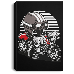 Caferacer Helmet Portrait Canvas .75in Frame