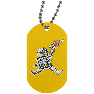 Space Jump Silver Dog Tag