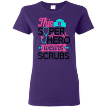 "Load image into Gallery viewer, ""Super Hero in Scrubs"" Ladies' T-Shirt"