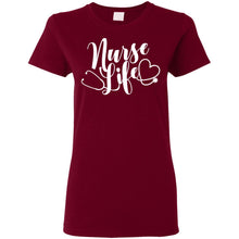 "Load image into Gallery viewer, ""Nurse Life"" Ladies' T-Shirt"