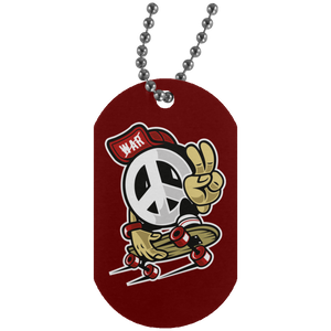 Peace Silver Dog Tag