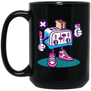 Toaster 15 oz. Black Mug