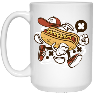 Hot Dog 15 oz. White Mug