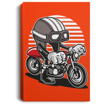 Load image into Gallery viewer, Caferacer Helmet Portrait Canvas .75in Frame