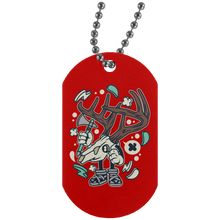 Load image into Gallery viewer, Deer Skull Silver Dog Tag