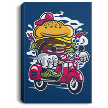 Load image into Gallery viewer, Burger Scooter Portrait Canvas .75in Frame