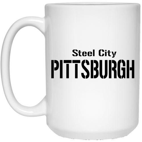 Pittsburgh 15 oz. White Mug