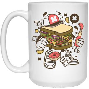 Sandwich 15 oz. White Mug